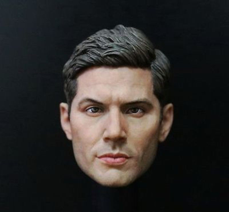 1:6 Supernatural Dean Winchester Jensen Ackles Male Head Sculpt For 12 Action Figure Body Toys Freeshipping