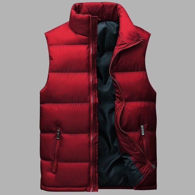 Winter Fashion Sleeveless Jackets Men Solid Color Windbreaker Vest Mens Casual Waistcoat Coat Mens Waterproof Jacket Homme L-8XL