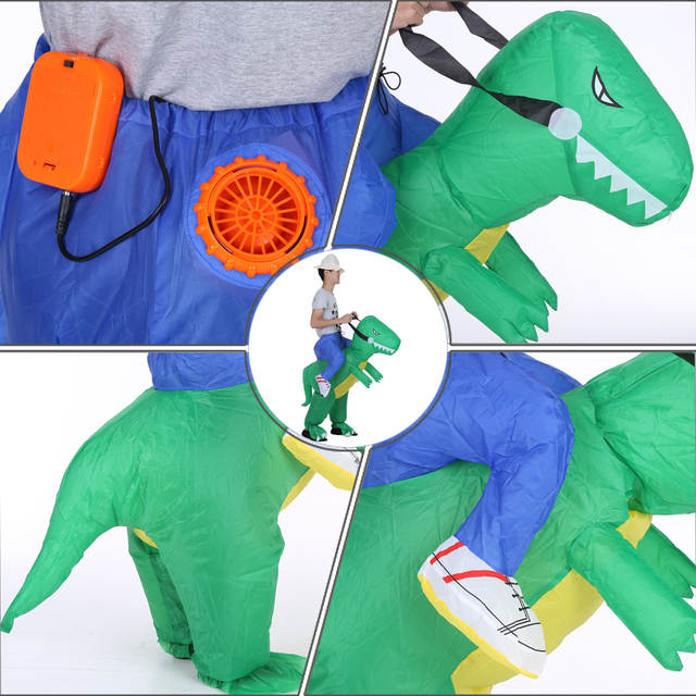 Cute Adult Inflatable Dinosaur Costume Suit Air Fan Operated Walking Fancy  Dress Party Outfit T- 9e84ea3e6be3