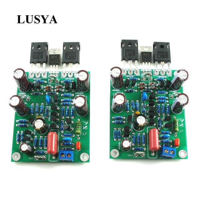 Lusya amplificador de potencia de Audio, amplificador de canal Dual, Clase AB MOSFET L7, 350W * 2, bricolaje/terminado, 2 uds.