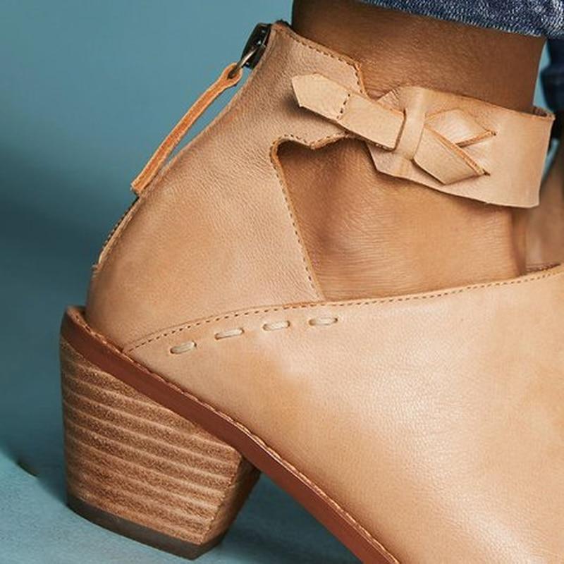 Cómodos Mujeres Transpirables Pu Exclusivo Cremallera Zapatos La Tacón De Gamuza Cuero Las Botas Mujer 1 3 Primavera Dropshipping 2 Diario Retro 2019 Grueso 5wqA7vFx