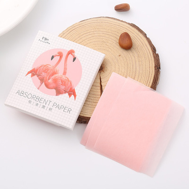 50Pcs Sheets/Pack Flamingo Makeup Facial Face Clean Oil Absorbing Blotting Papers Beauty Tools Pattern Random Facial Tissue 3