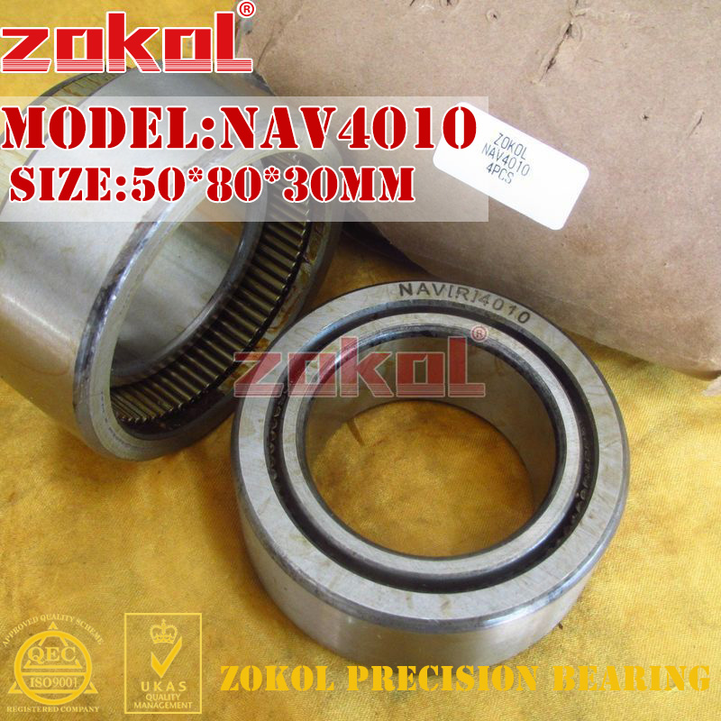 ZOKOL bearing NAV4010 Full bore needle roller bearing with inner ring 50*80*30mm na4910 heavy duty needle roller bearing entity needle bearing with inner ring 4524910 size 50 72 22