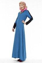 Hot Muslim Abaya Women Dresses Ethnic Islamic Fashion Code Malay Dubai Saudi Womens Styles Long Sleeve O-Neck Floor-Length Dress