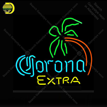 Corona Extra Neon Signs Neon Lamp Glass Tube Palm Tree Neon Bulbs Sign Recreation room Beer Bar Sign Club Handcraft Indoor Sign