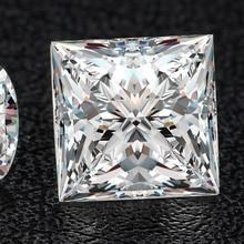 5*5mm Princess Cut  White Moissanite Stone Loose Diamond 0.71 moissanite stone