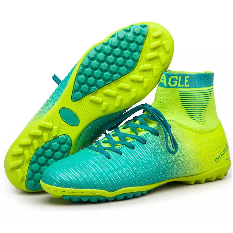 FEOZYZ Indoor Turf/TF High Ankle Soccer Shoes Futsal Adult Football Boots Sneakers Futsal Men Football Shoes Cleats Size 38-45 dr eagle original superfly football boots man football shoes with ankle soccer boots footbal shoes sock size 38 45 sneakers
