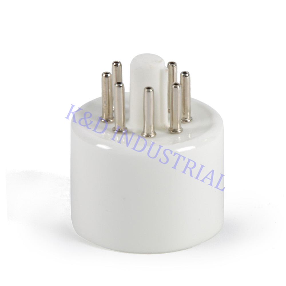 10pcs 8pin 6SN7 6CA7 EL34 6L6 All Octal Pin Tube Base Sockets For Guitar Amp parts in Electrical Plug from Consumer Electronics
