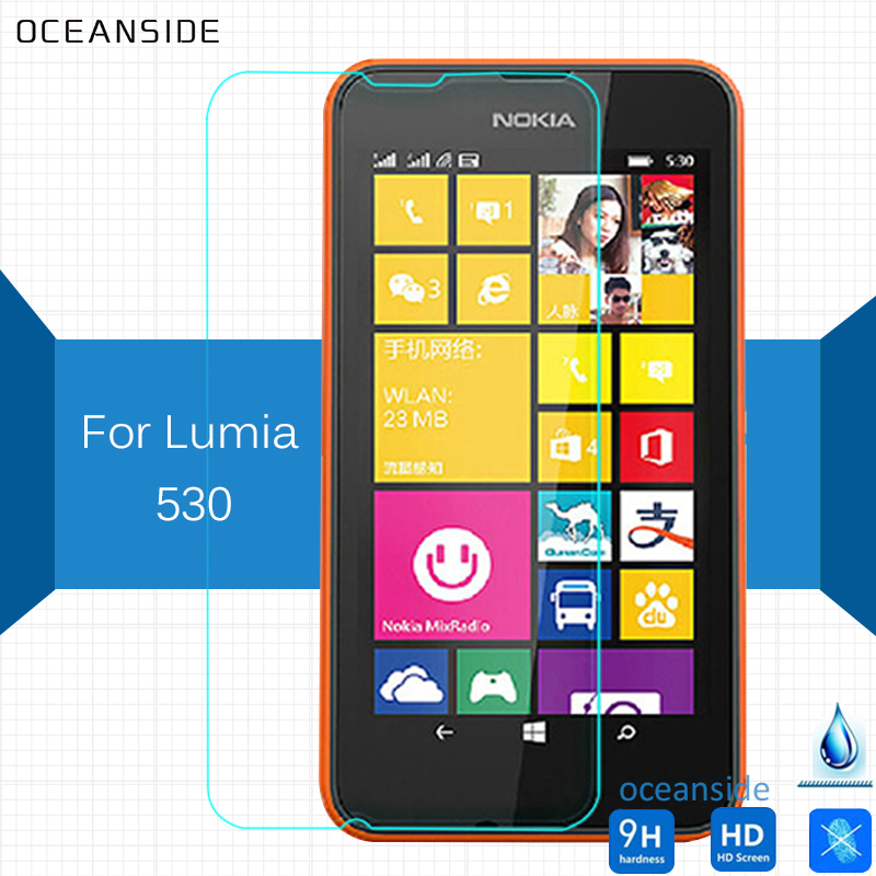For Nokia lumia 530 Tempered Glass Screen Protector 2.5 9h Safety Protective Film on Rock Golbal Dual sim nam phone