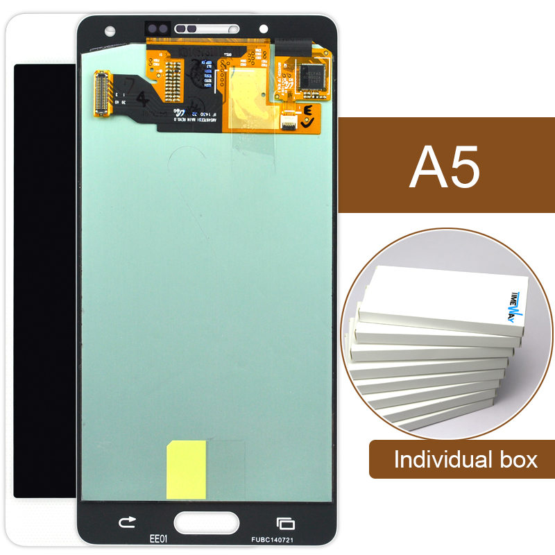 DHL 10pcs shipping 100% Test copy For Samsung Galaxy A5 LCD A5000 A500 LCD Touch Screen Assembly
