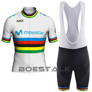 83429fcaa 2018 movistar UCI Color strip Edition TOUR EUROPA team Custom top Cycling  Jersey world sl Bicycle race CLASSIC bicycle equipment