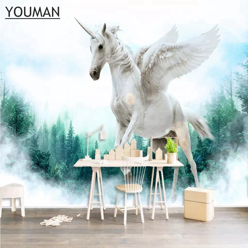 Wallpapers YOUMAN Desktop Wallpaper 3d Images Hd Custom Photo Wallpaper Horse Murals Wallpaper Ideas TV Room Kitchen Wall Art купить недорого в Москве