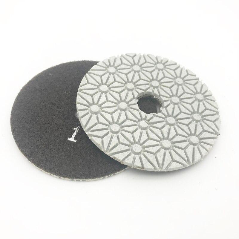 4 colių 100 mm deimantų drėgno / sauso poliravimo trinkelės 3 - Abrazyviniai įrankiai - Nuotrauka 2