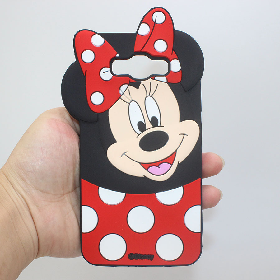 Cover fundas For Samsung Galaxy J1 J5 J7 2015 A3 A5 A7 2016 Grand Prime S5 S6 S7 S7 Edge J5 J7 Minnie Mickey Mouse Silicone Case