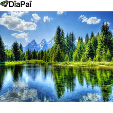 DIAPAI Diamond Painting 5D DIY 100% Full Square/Round Drill Tree lake scenery Embroidery Cross Stitch 3D Decor A24807