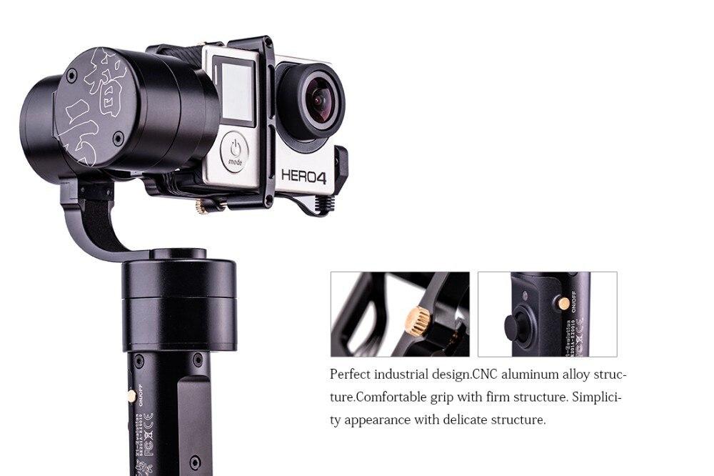 bilder für F16634 Zhiyun Z1-Evolution 3 achse Hand Stabilizer Brushless Gimbal für GoPro Hero 3 4 5 XiaoYi SJ4000 5000 Kamera Z1