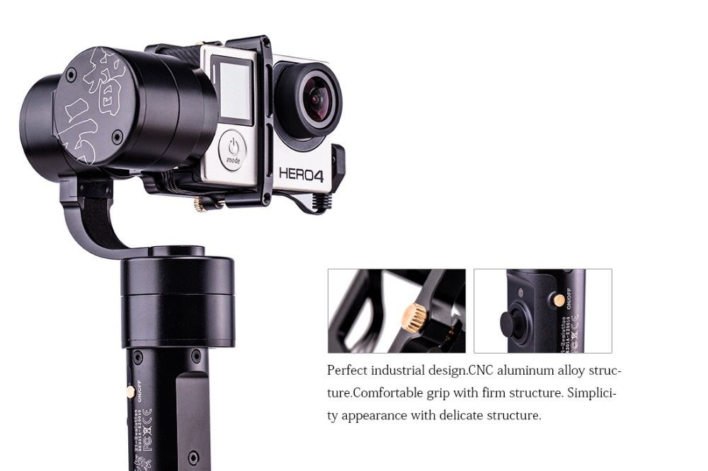 F16634 Zhiyun Z1- Evolution 3 axle Handheld Stabilizer Brushless Gimbal for GoPro Hero 3 4 5 XiaoYi SJ4000 5000 Camera Z1