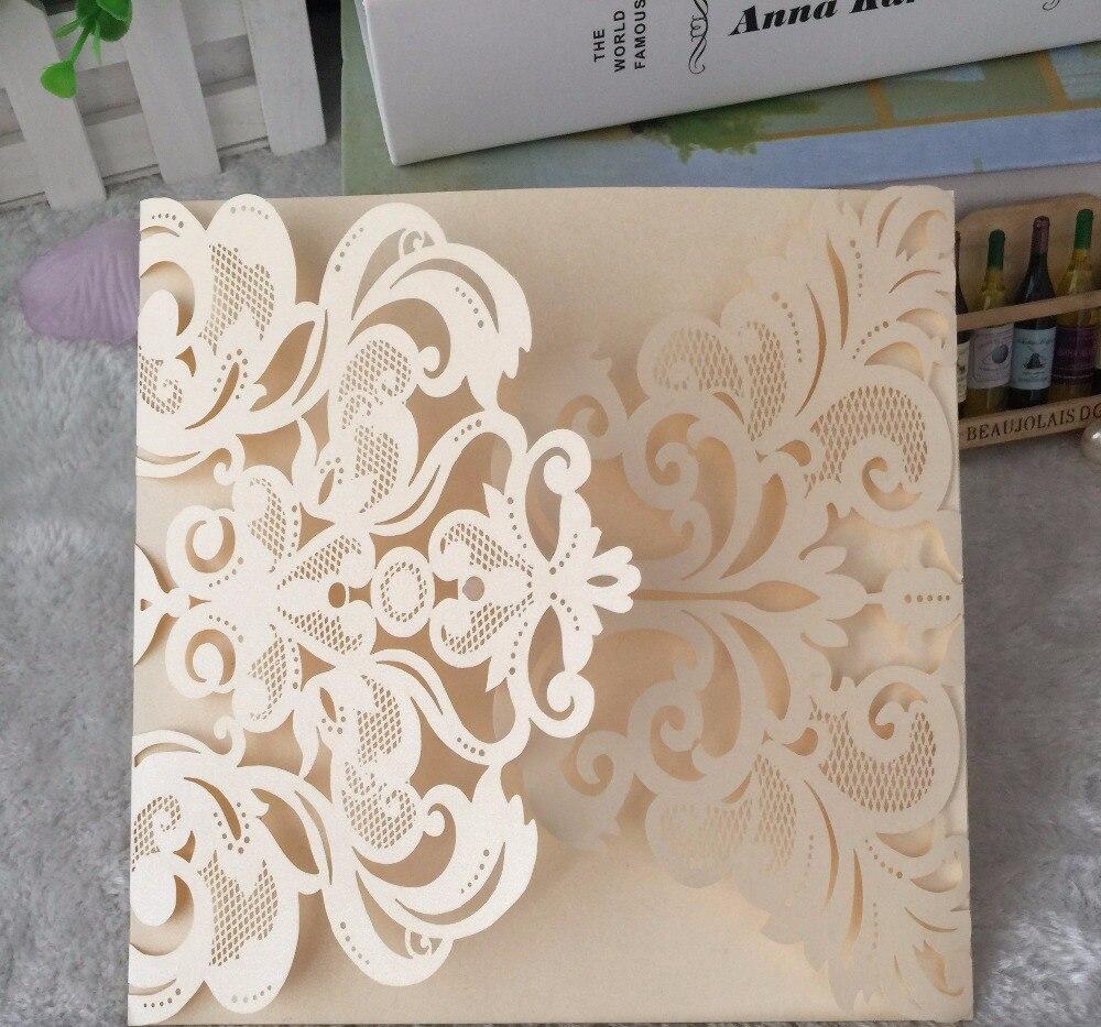 50pcs Handmade Wedding Invitations,,kids Birthdays/Baby Shower Lovely  Invitation Cards,Laser