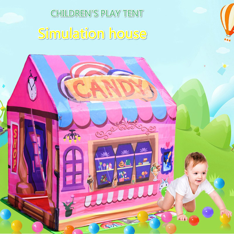 Play Tent Game House Toys Portable Foldable Baby Indoor Outdoor Sports Girl Princess House Boy Tent Household Gifts For Children