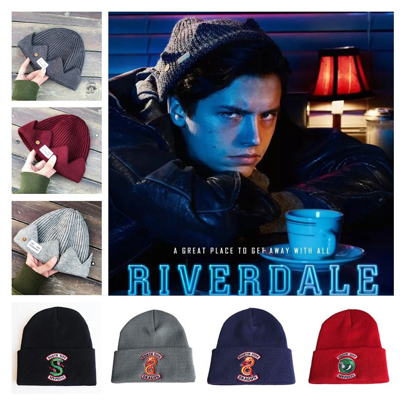 Anime Movie Riverdale Jughead Jones Cosplay Accessories Hats Women Men Cotton Wool Dome Cap Archie Veronica Betty Embroidery Hat