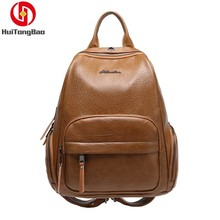 Women Genuine Leather Shoulders Bag Function Practical Backpack Travel Sheepskin Woman Fashion Shopping Schoolbag Mochila Bags