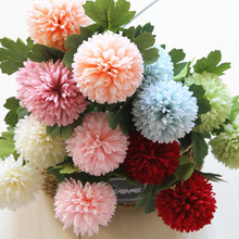 20pcs Silk Carnation Flower Fake chrysanthemum Artificial  for Wedding Decorative Flowers