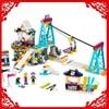 632Pcs Building Block Compatible Legoe Toys Friends Snow Resort Ski Lift Model LEPIN 01042 Brinquedos Gift