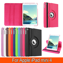 360 Rotate Cowl for Apple iPad mini four 7.9′ inch Pill case PU leather-based stand protecitve cowl case For mini four Equipment