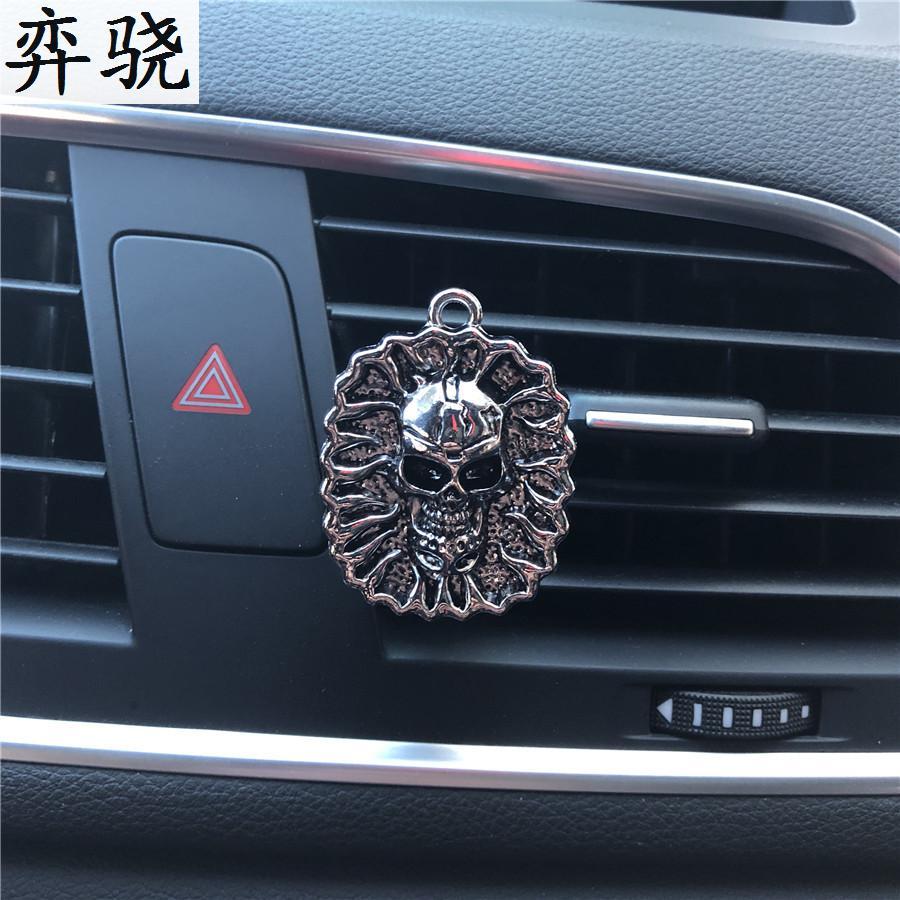 car styling decoration Rhinestone Alloy material skeleton head car perfume clip perfume car air freshener perfume Buddha
