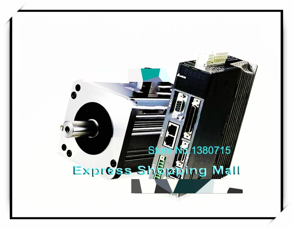 ECMA-C10604SS ASD-A2-0421-M AC Servo Motor & Drive kits 220V 400W 1.27NM 3000r/min ECMA-C10604SS + ASD-A2-0421-M 400w delta ac servo motor and drive with brake and oil seal new asd a2 0421 u ecma g11303ss