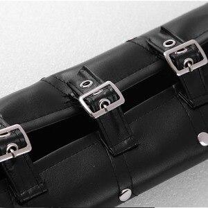 Image 5 - ユニセックスゴシックスチームパンク pu シングルショルダーバッグ甲冑アームストラップセット調整可能な金属リベットショルダーストラップコスプレ衣装アクセサリー
