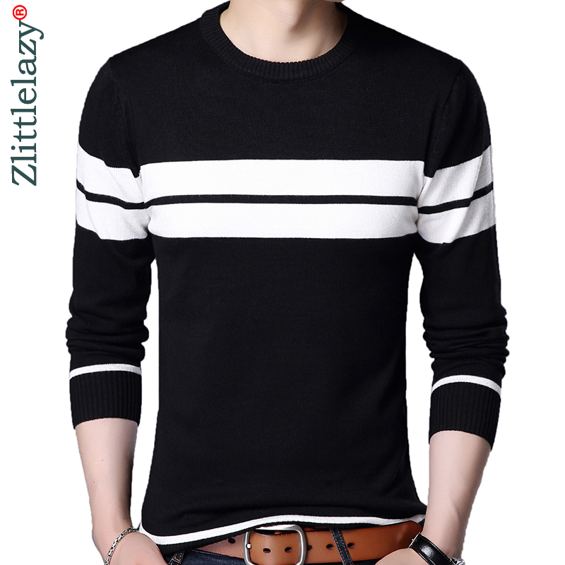 new products b604e 29426 US $13.44 49% OFF|2019 designer pullover striped men sweater dress thin  jersey knitted sweaters mens wear slim fit knitwear fashion clothing  10041-in ...