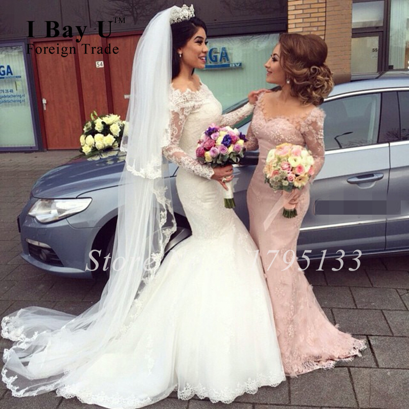 Online Buy Wholesale blush lace mermaid wedding dress from China ...