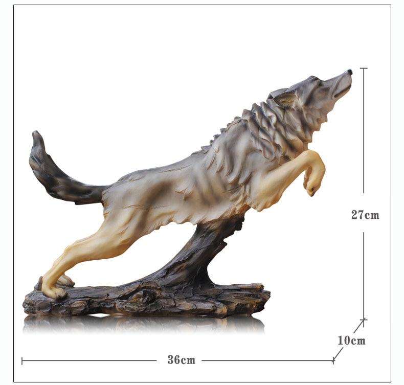 Figurine d'art loup totem berger allemand articles d'ameublement simulation animal modèle bureau décoration équipe personnalisée prix cadeau