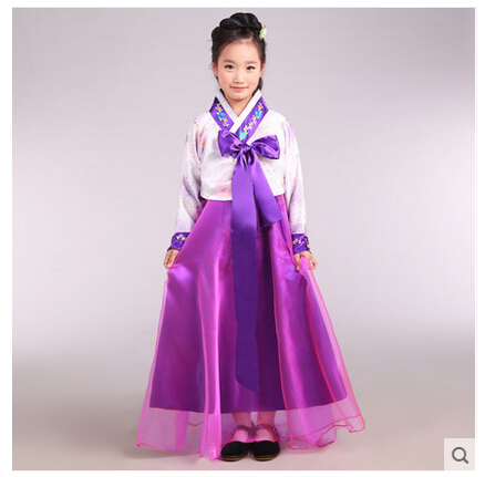 Free Shipping Children Korean Hanbok National Costume Traditional Dress Four Colors For Height 120 150cm In Asia Pacific Islands