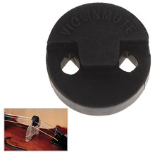 Astonvilla 20 x 20mm Black Acoustic Round Rubber Violin Mute Fiddle Silencer Violin Parts & Accessories(China)