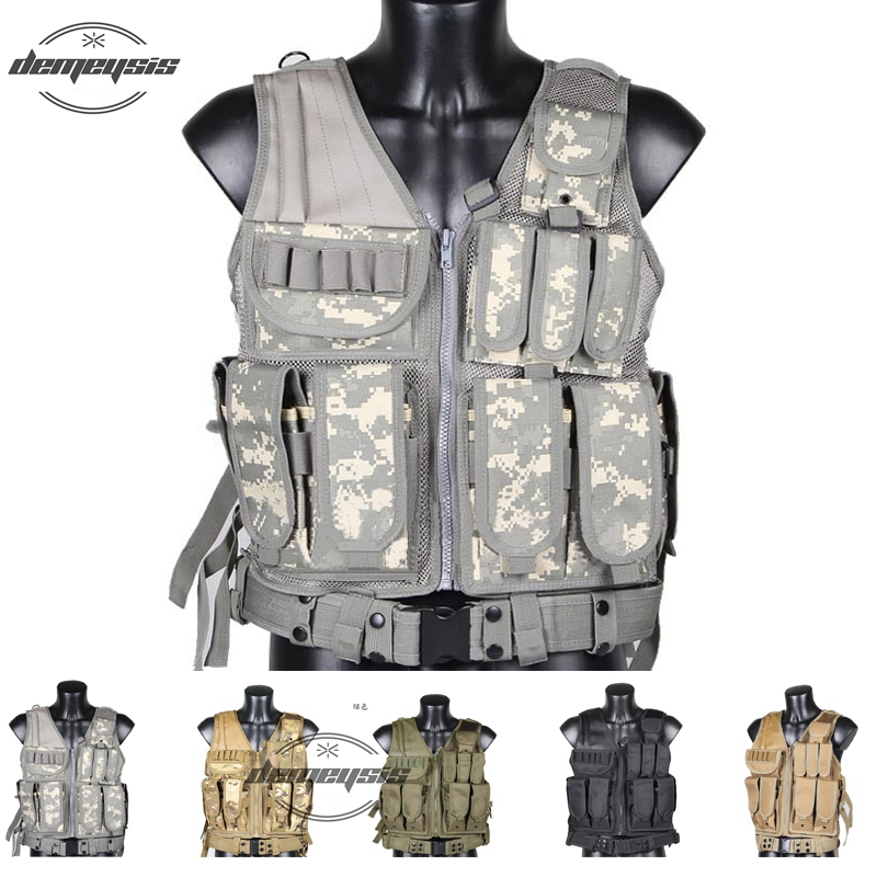 Tactical Military Vest Hunting Airsoft Vest Outdoor Police Tactical Vest Camouflage Military Body Armor Sports Wear Hunting Vest