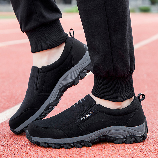 Outdoor Shoes Retro Men Sneakers Trecking Hiking Shoes Athletic Anti-skid Climbing Shoes Slip-on Male Sport Father Healthy Gift