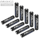 PALO 10pcs 1.2V AAA 1100 mAh High Capacity Ni-MH Rechargeable Battery with Low Discharge for Camera / Remote Control / Toy