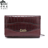 FANI Women Wallet and Purse Genuine Leather Female Short wallets Fashion Ladies Clutch bags Coin Purses 2018 new style
