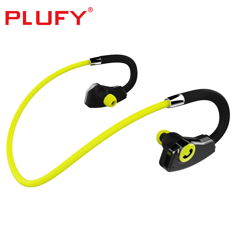 PLUFY Sport Bluetooth Earphones IPX5 Waterproof Wireless Headphones Ear Hook Bluetooth Headset with Mic for Phone IPhone Xiaomi