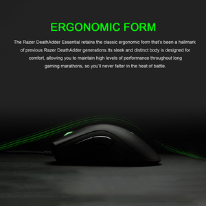 Image 5 - Razer DeathAdder Essential Wired Gaming Mouse 6400DPI Ergonomic Professional Grade Optical Sensor Razer Mice For Computer Laptop