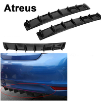 Atreus Car Rear Bumper Exhaust Pipe Chassis Shark 7 Wings Spoiler For Mercedes benz W204 W203 W211 AMG Mini cooper Skoda octavia