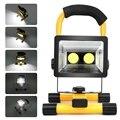 3 Modos de 20 W CONDUZIU a Luz de Inundação IP65 À Prova D' Água SMD3528 Holofotes 2LED Portátil Recarregável LEVOU Luz De Emergência Luz de Trabalho + USB carregador