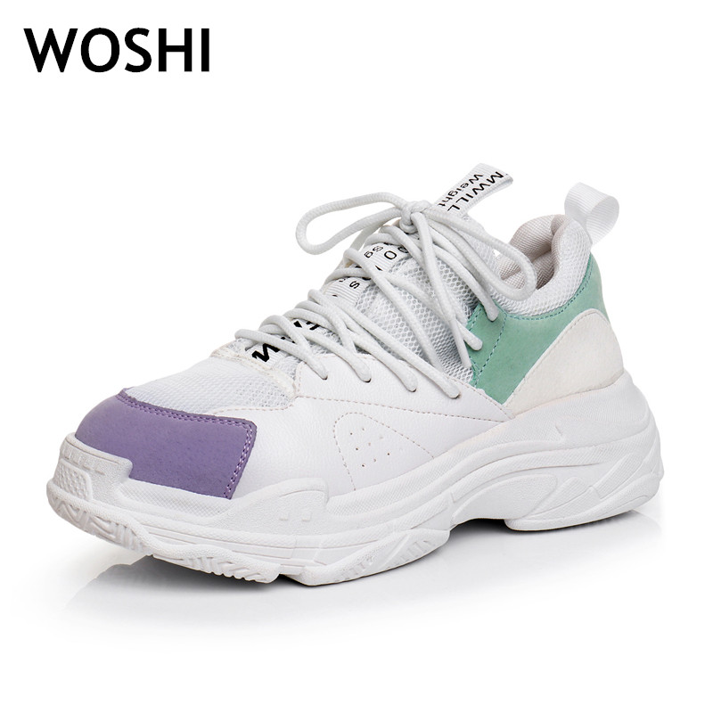 fashion air mesh shoes student breathable lace up outdoor women shoes lightweight woman sneakers shoes Creepers Platform Shoes 3 minika fashion air mesh shoes women breathable