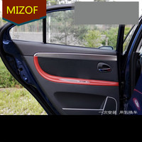 4PCS Midification Accessory Microfibre Leather Interior Doors Panel + Armrest Cover For Mazda 3 AAB085