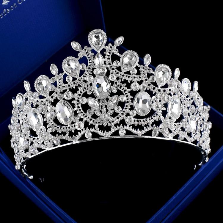 new American Bride crown crystal QUEEN CROWN wedding bride Baroque Hair Jewelry Wedding jewelry wholesale