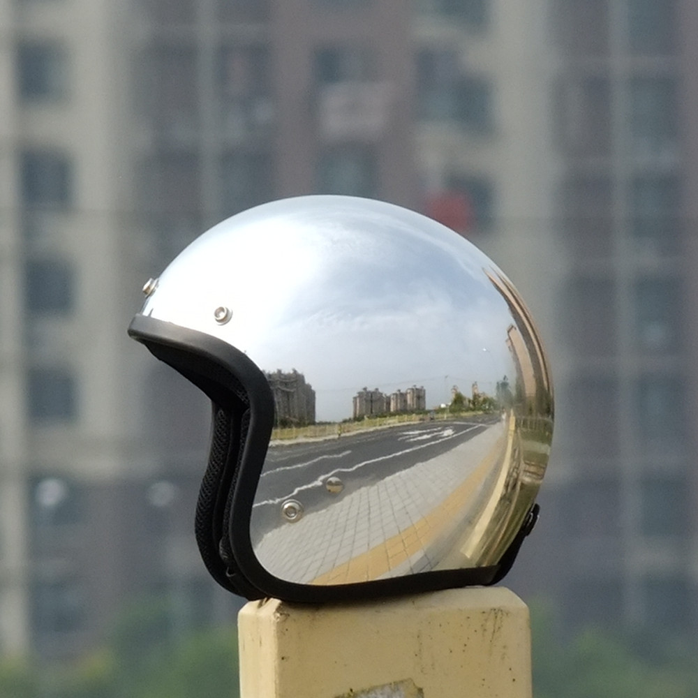 Popular motorcycle helmets chrome buy cheap motorcycle - Casque moto course ...