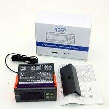 WH7016E 10A цифровой регулятор температуры термопары-9,9~ 99,9 градусов Цельсия с датчиком и сигнализацией 220 В/110 В/24 В/12 В