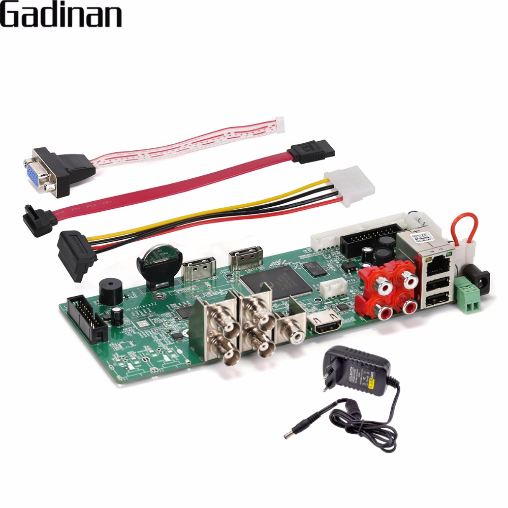 GADINAN 4 Canal AHD-H 1080 p AHD DVR Enregistreur Vidéo AHD/TVI/CVI/CVBS/IP 5 dans 1 Hybride de Sécurité CCTV DVR NVR Conseil ONVIF XMEye